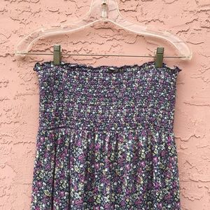 Juicy Couture Floral Strapless Maxi Dress
